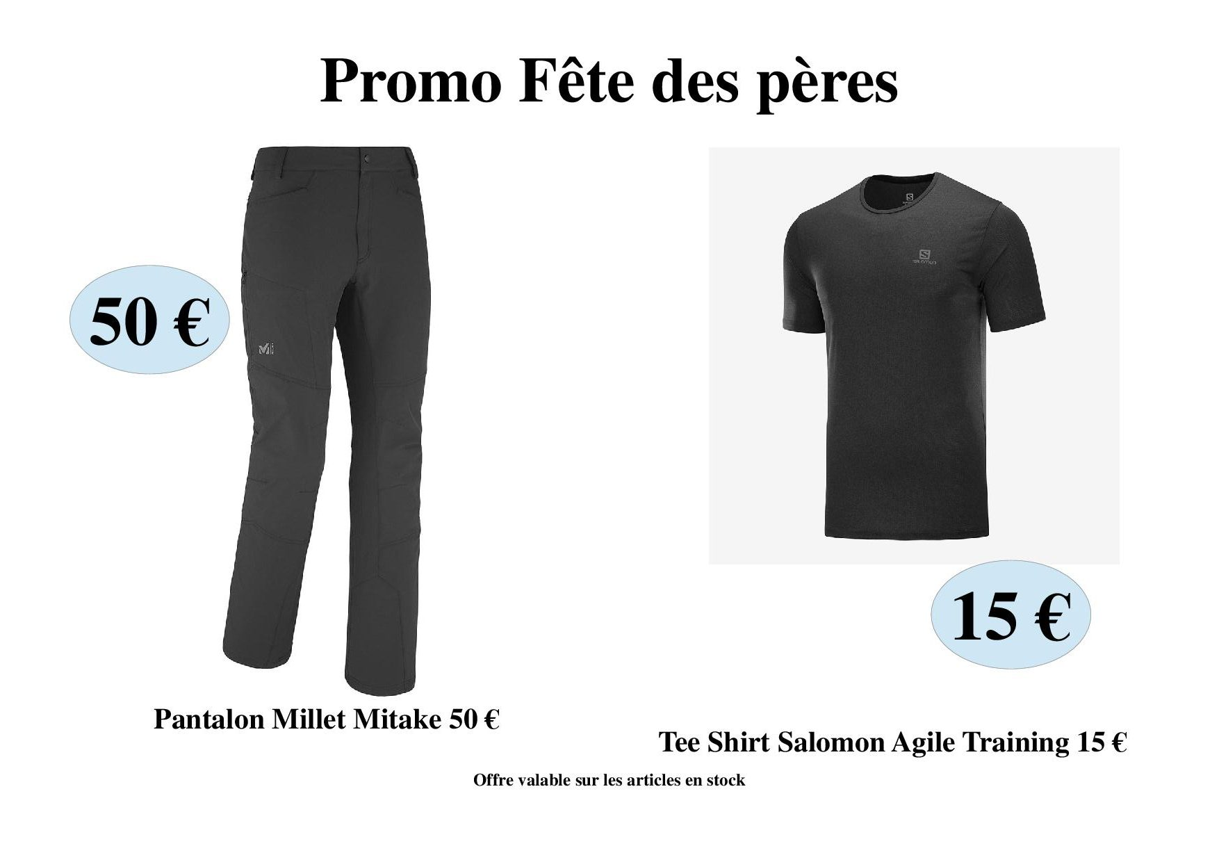 Promo Fête des pères Pantalon Millet 50 € Tee shirt Salomon 15 € #corse #corsica #alti.monti #ajaccio #salomon #running #millet #promo #promotions #trailrunning #trailrunner #montagne #rando #randonnées #isula #muntagnecorse #fetedesperes